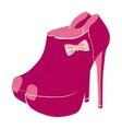 Pink fashionable shoes vector image