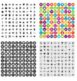 100 insurance icons set variant vector image vector image