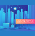 3d city concept urban background with vector image vector image