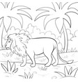 a children coloring bookpage a lion on the vector image