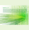 abstract background with green texture and lines vector image