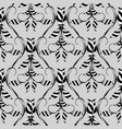 abstract floral seamless pattern grey vector image vector image
