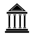 antique greek building vector image vector image