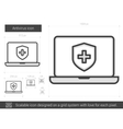 Antivirus line icon vector image vector image