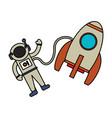 astronaut rocket exploration image vector image
