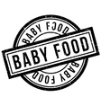 Baby Food rubber stamp vector image vector image