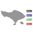 bali map in dot style with grunge title stamps vector image
