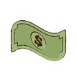 bill money dollar cash icon sketch vector image vector image