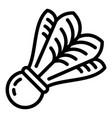 bird shuttlecock icon outline style vector image vector image
