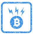 bitcoin lightnings framed stamp vector image vector image