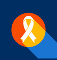 black awareness ribbon sign white icon on vector image