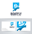 Boat Fly vector image