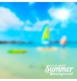 Bright blurred summer sea background vector image vector image