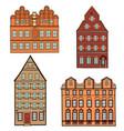 building set european classical architecture vector image
