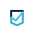 check shield logo icon vector image