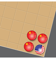 China is the winner in Go game business vector image vector image