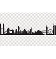 cityscape on a transparency background vector image