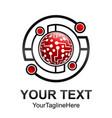 creative abstract circle geometric technology logo vector image vector image