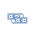 currency exchange line icon concept currency vector image vector image