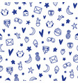 cute ink doodles kids simple and fun pattern vector image