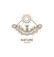 decorative logo nature vector image vector image