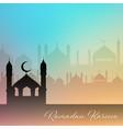 decorative ramadan kareem background vector image vector image