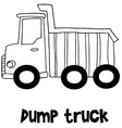 Dump truck with hand draw vector image