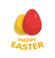 easter eggs with sign vector image