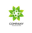 eco environment green leaf nature logo vector image