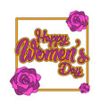 female gender symbol with flowers happy women day vector image vector image