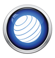 Fitness rubber ball icon vector image
