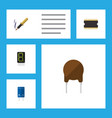 flat icon electronics set of calculate vector image vector image
