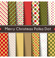 fourteen merry christmas polka dot vector image