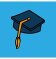 graduation concept design vector image vector image