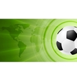 Green anstract soccer sport background with ball vector image vector image
