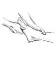 Hand sketch massage feet vector image vector image