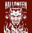 happy halloween monochrome poster vector image vector image