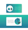 headphone business card headset listening to vector image vector image