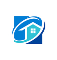 house realty icon logo vector image vector image
