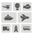 icons with different types of transport vector image