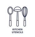 kitchen utencils line icon concept kitchen vector image vector image