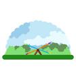 landscape of a children park vector image vector image