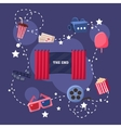 Movie Theatre Objects Collection vector image vector image