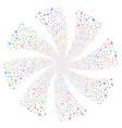 music fireworks swirl flower vector image vector image