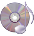 Musical note and cd disk - music icon vector image