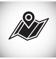 navigation map icon on white background for vector image