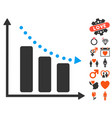 negative trend icon with lovely bonus vector image vector image