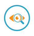 ophthalmology and medical services icon flat vector image