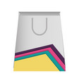 paper bag with lines colored vector image vector image