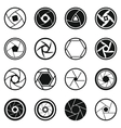 Photo diaphragm icons set simple style